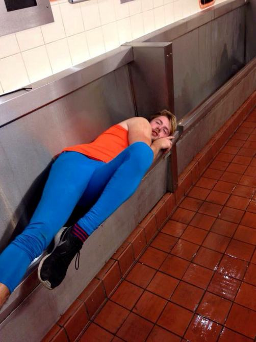 Uni Student Has A Few Too Many, Passes Out In Urinal uni2