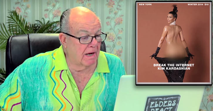 Old People React To Kim Kardashians Nude Cover Shoot 1