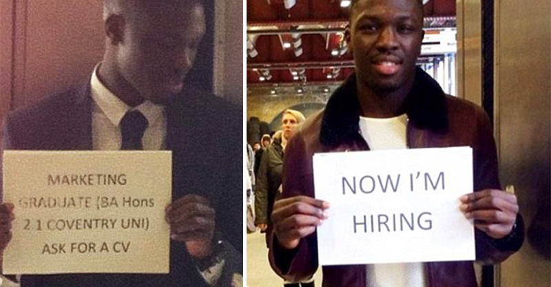 Graduate Who Stood Handing Out CVs Is Now Hiring In The Same Spot 157