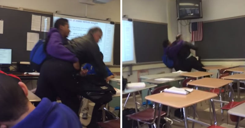 Student Bodyslams His Teacher For Confiscating His Phone 160