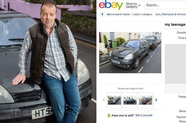 A Dad Is Selling His Sons Car With One Of The Best Adverts Ever MAIN Renault Clio on ebay