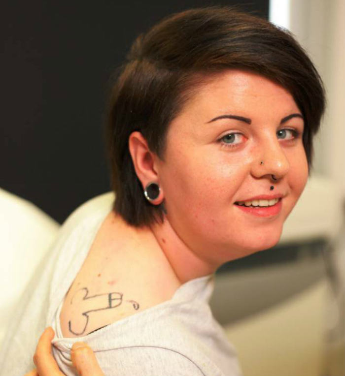 Woman Wakes Up From Party With A Dick Tattoo, Obviously cock tattoo