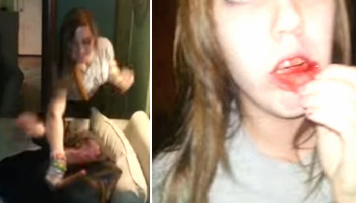 Guy On Drugs Punches Crazy Girl In The Face After She Starts Fight fights web thumb