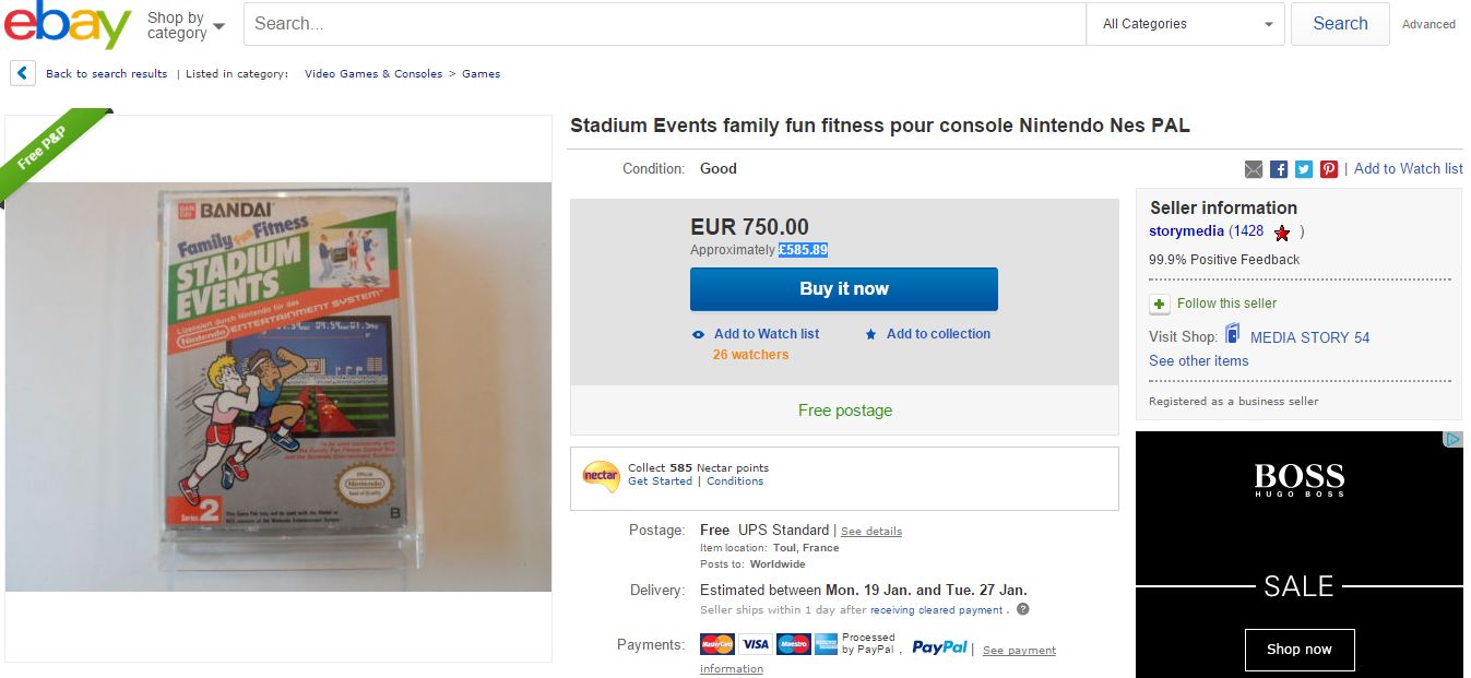 Rare Video Game Going For Over $100K On Ebay game 750