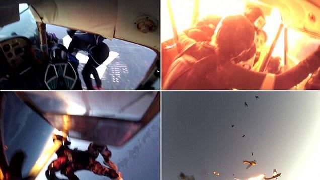 Insane Footage Of Plane Crash From Skydivers GoPro plane