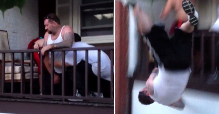 Drunk Man Brutally Thrown Off Porch For Disrespecting Household porch fb thumb
