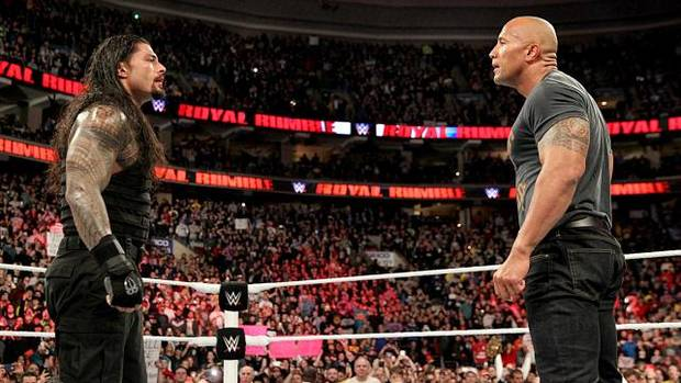 Watch The Rocks Dramatic Return At The 2015 Royal Rumble rock2