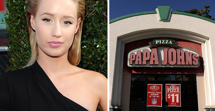 Papa Johns Pizza Give Out Iggy Azaleas Phone Number 116