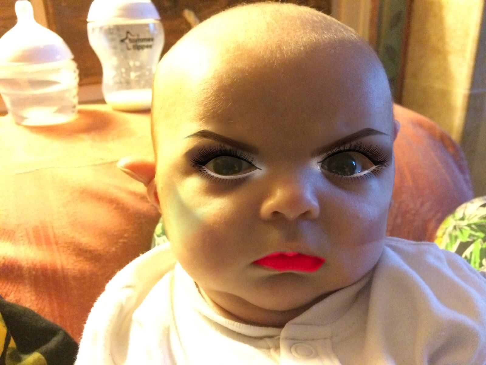 This Dad Used A Make Up App On His 7 Week Old Son 133