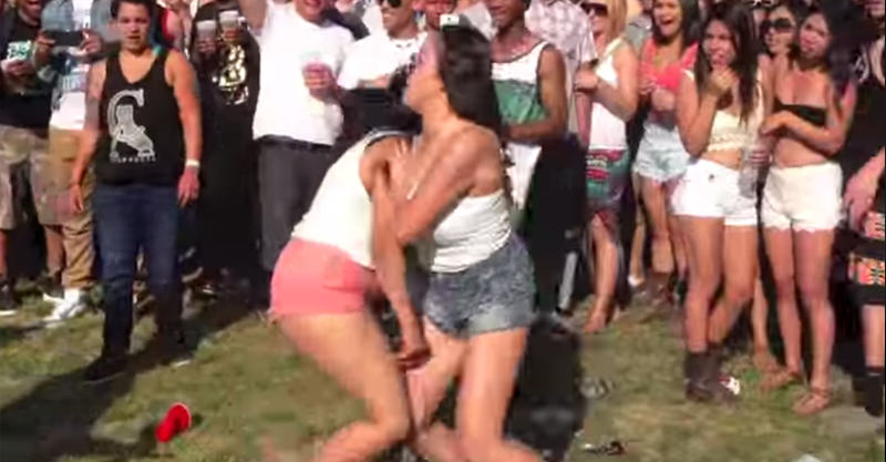 Girl Starts Fight With Guy, Girlfriend KOs Her Into Next Week 16
