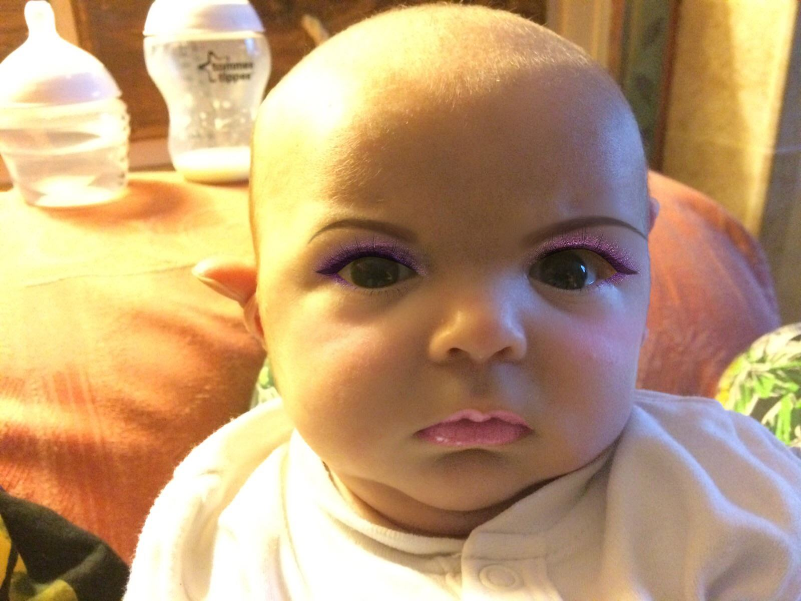 This Dad Used A Make Up App On His 7 Week Old Son 21