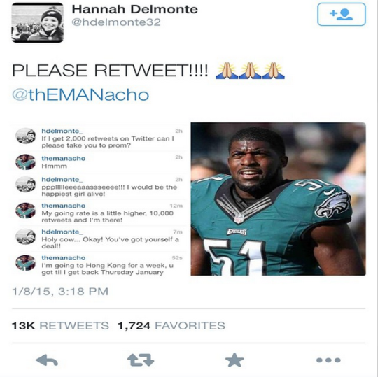 NFL Linebacker Takes Girl To Prom After She Got 10K Retweets 23