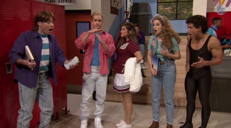 A Saved By The Bell Reunion Happened Thanks To Jimmy Fallon Screen shot 2015 02 05 at 10.06.00