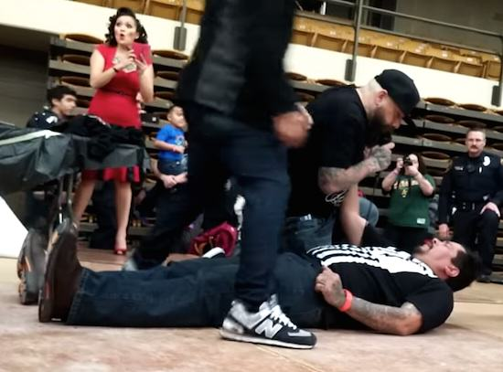 Guy Receives Brutal KO During Slap Off Contest, Obviously Slap2