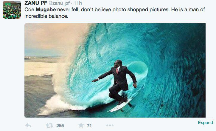 Robert Mugabe Fell Over Today And The Internet Reacted Surf