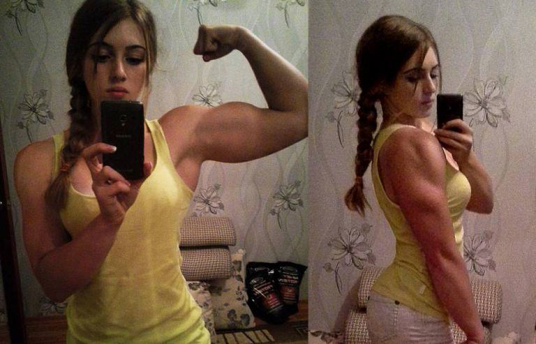 This Girl Has The Face Of A Doll But Physique Of A Bodybuilder barbiw2