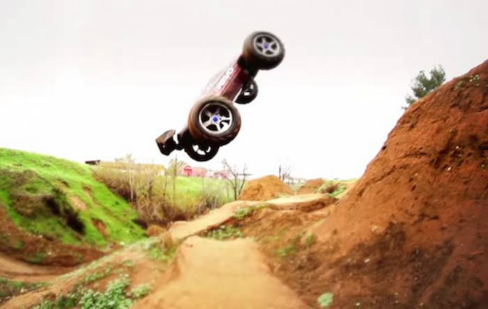 Watch This Remote Control Car Hit A BMX Jump Section erer e1423083368780
