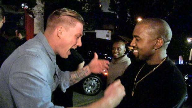 Kanye Lets Aspiring Rapper Freestyle For Him In The Street kanyeezy