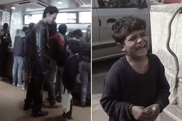 Watch This 5 Year Old Street Kid Eat His First McDonalds kid1