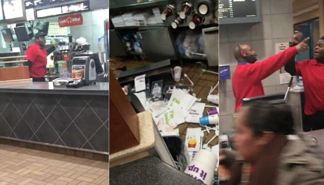 McDonalds Employee Ransacks Restaurant After Being Fired mc