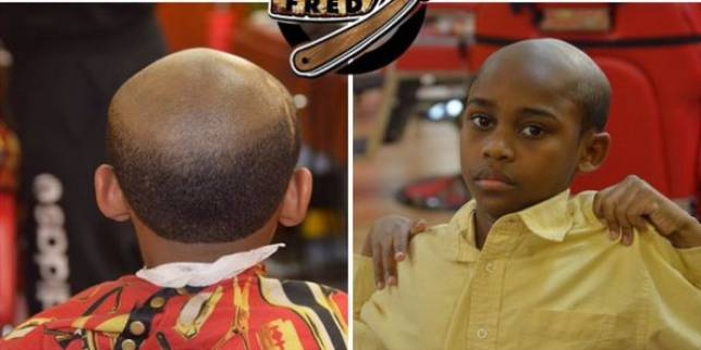 Naughty Kid? This Barber Will Give Him An Old Man Haircut oldman