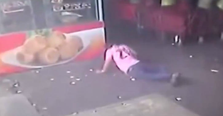 Watch This Idiot Try To Kick A Dog, And Enjoy What Happens on the floor