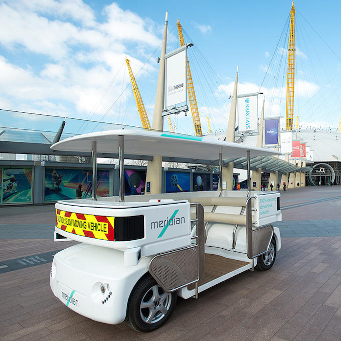 Driverless Cars Are Now Being Tested In UK Cities shuttle