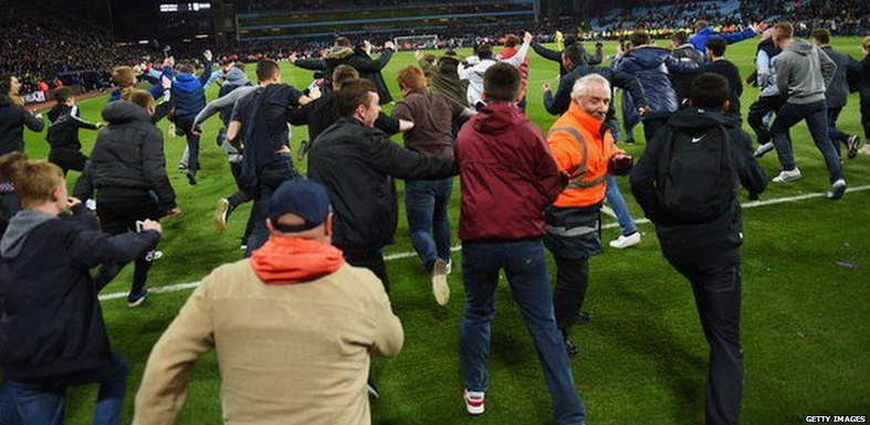 17 Men Arrested Following Aston Villa Pitch Invasion 12211