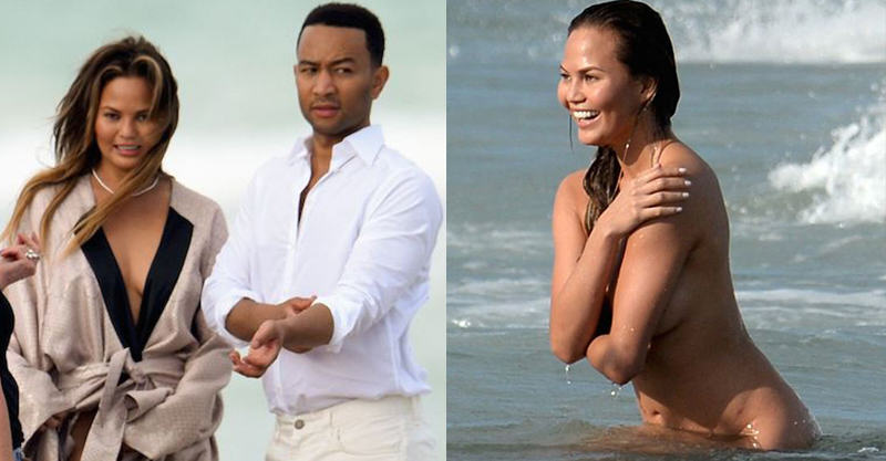 John Legends Girlfriend Chrissy Teigen Goes Fully Naked On Beach For Photoshoot 146
