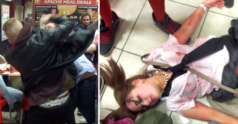 Woman Knocked Out In Dublin Pizza Shop As Fight Escalates 157