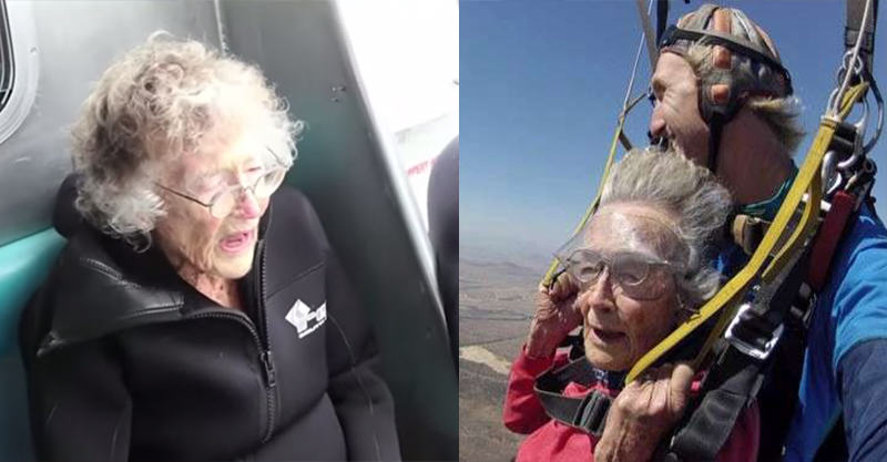 100 Year Old Granny Swims With Sharks After Epic Skydive 162