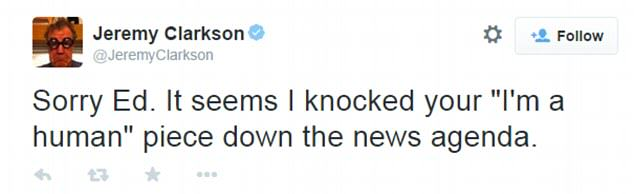 The Internet Reacts To Jeremy Clarksons Suspension 2685888B00000578 2988412 image a 4 1426033163799