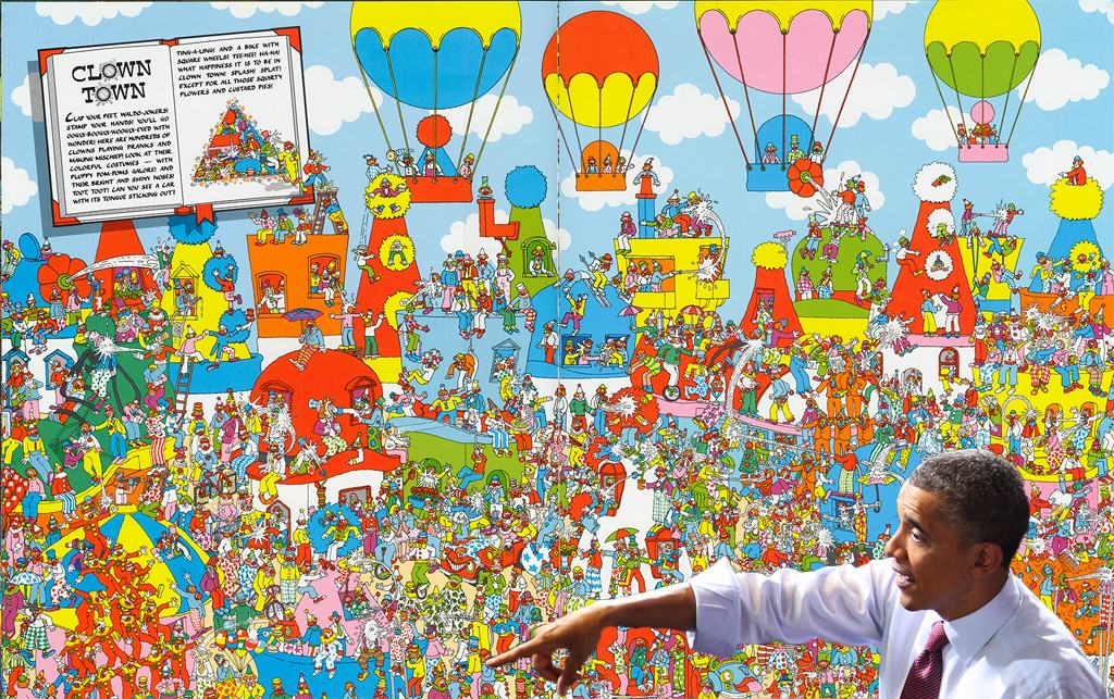 Obama Pointing Out Wheres Wally Because Internet 42