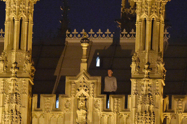 This Guy Climbed On To The Roof Of The Houses Of Parliament And Had An Eight Hour Stand Off 54fc4f34bc786 GettyParl