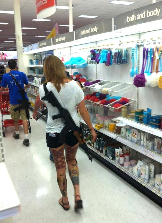 In Michigan Its Perfectly Legal To Stroll Around With An Assault Rifle Open Carry