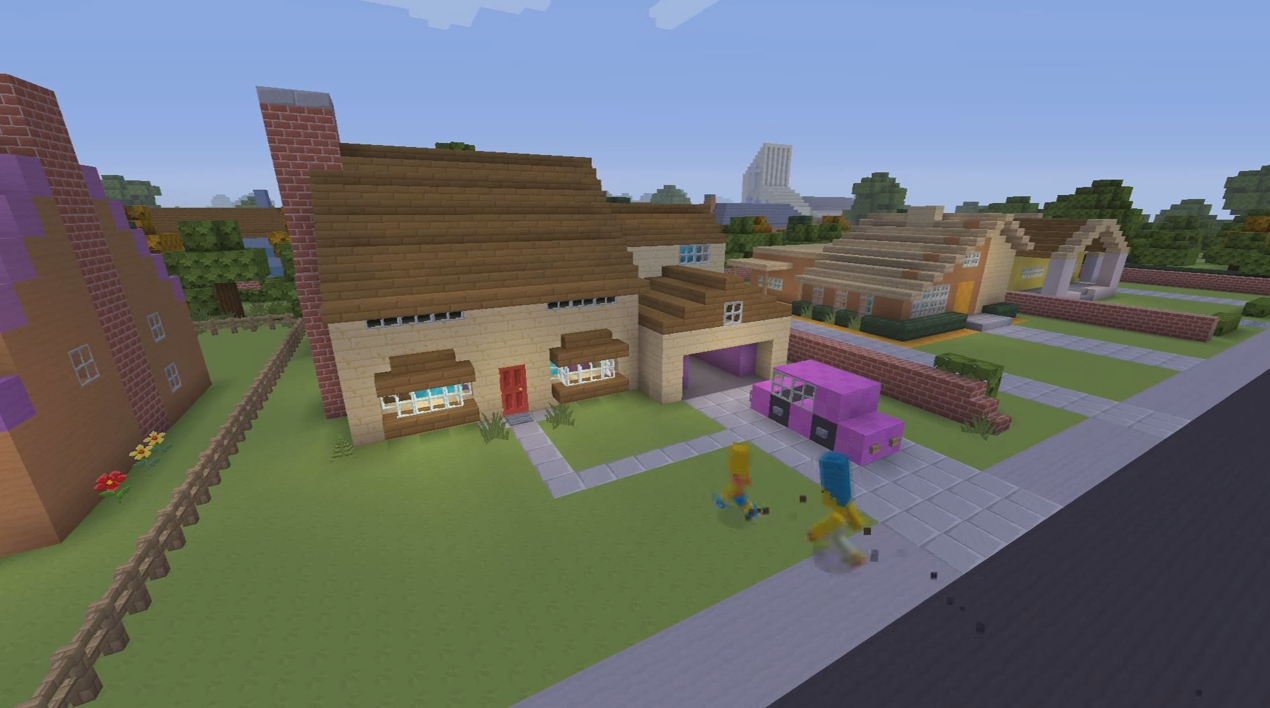 The Simpsons Intro Made In Minecraft Is F*cking Awesome Screen Shot 2015 03 19 at 09.31.49 1