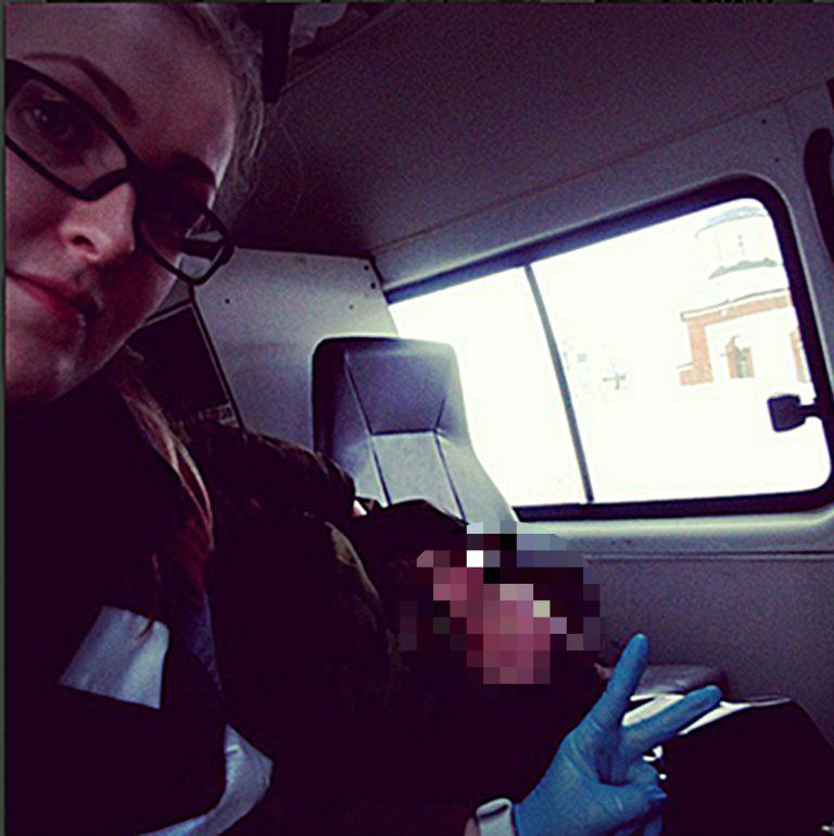 Paramedic Took Selfie With Dying Patient, Wrote 'Another Moron' ad162365218pic shows parame