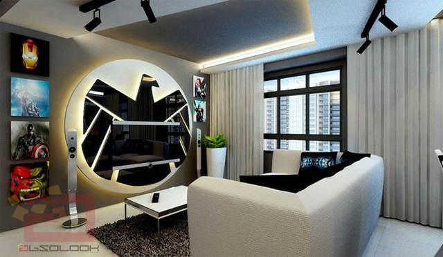 This Avengers Themed Apartment Is Seriously F*cking Cool avg1