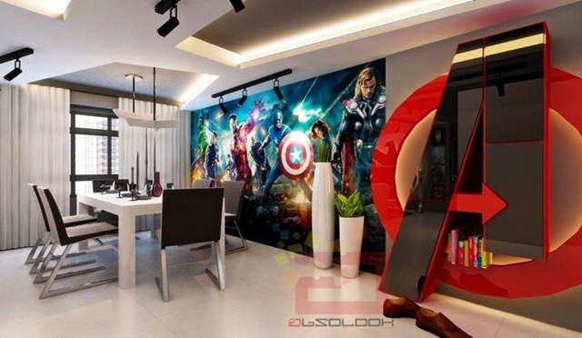 This Avengers Themed Apartment Is Seriously F*cking Cool avg2
