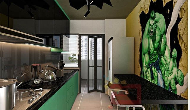 This Avengers Themed Apartment Is Seriously F*cking Cool avg3