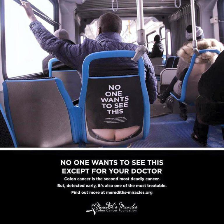 Colon Cancer Charitys Brilliant Ads Are A Little Bit Cheeky charity