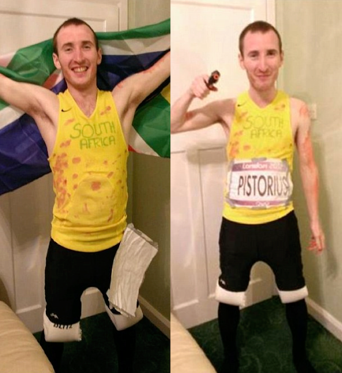 Conservative Councillor Dresses Up As A Bloody Oscar Pistorius In Build Up To Election frgtryjuki