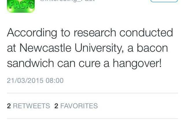 15 Best Hangover Cures As Judged By The Twitter Community hangover bacon 640x426