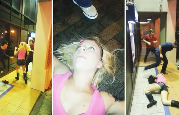 Fight Boils Over In Florida, Guy Knocks Girl Out Cold image