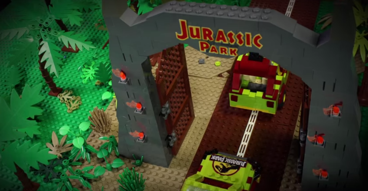 A Father And His Daughter Remake Jurassic Park Using $100,000 Worth Of Lego   And Its EPIC kopium