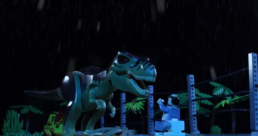 A Father And His Daughter Remake Jurassic Park Using $100,000 Worth Of Lego   And Its EPIC lo0i9uyg