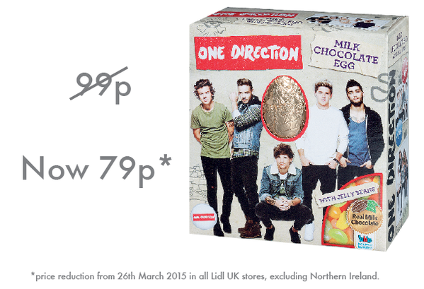 Lidl Slash One Direction Easter Eggs By A Fifth After Zayn Leaves The Band one d