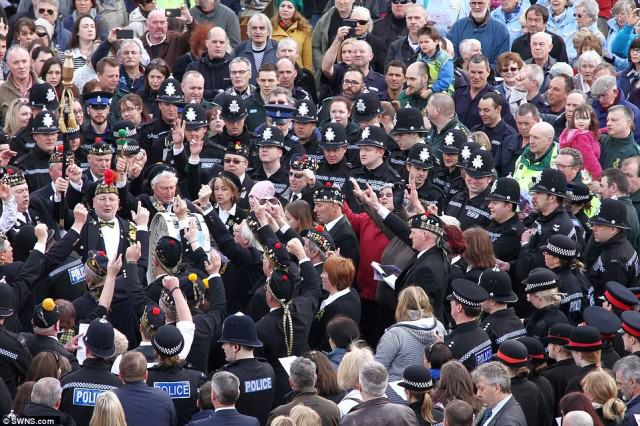 Hero Policemans  Death Sees Thousands Line The Streets For Final Beat Walk police 2 640x426