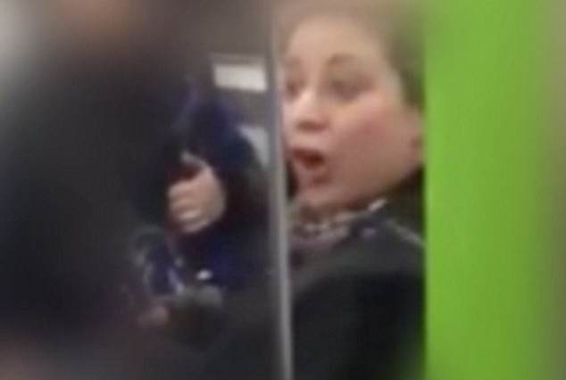 Woman On Tube Caught On Camera Racially Abusing Two Men racist 634x426