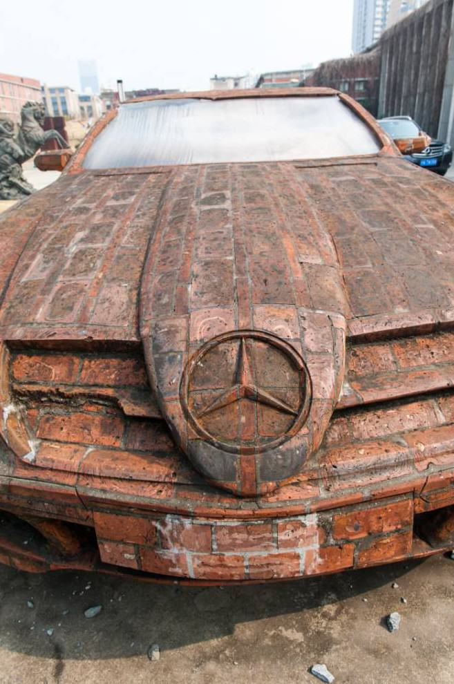 Man Builds Insane Mercedes Replica Using Only Red Bricks redbricks2